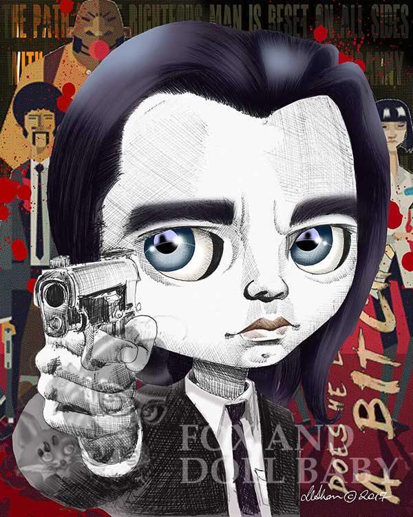 pop surrealist print Vincent vega pulp fiction