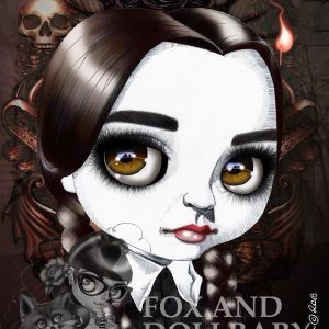 Wednesday Addams special edition art print by de Shan