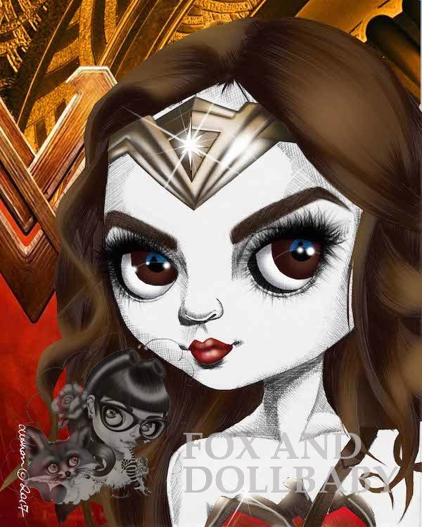 Wonder woman quality art print