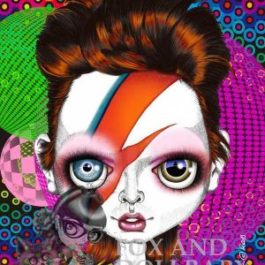 Ziggy Stardust David Bowie special edition art print by de Shan