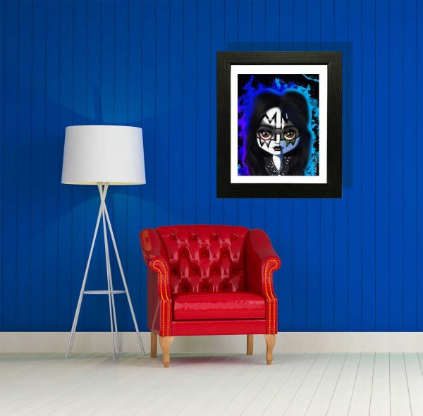 Ace Frehley from KISS special edition art print by de Shan
