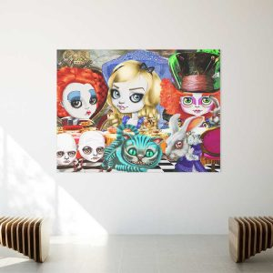 pop surrealism print Alice's tea party