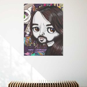 pop surrealist dave growl print