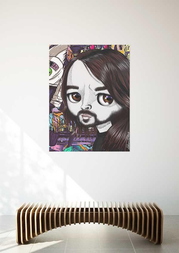 pop surrealist dave growl print
