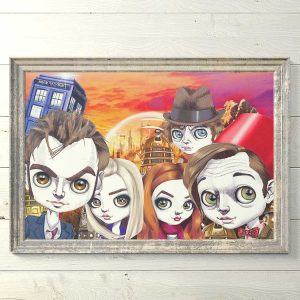 Pop art prints dr who limited editions