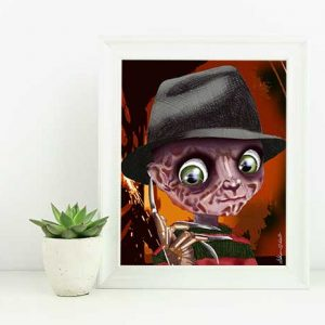 Freddy Krueger Nightmare on Elm Street Edition Art Print
