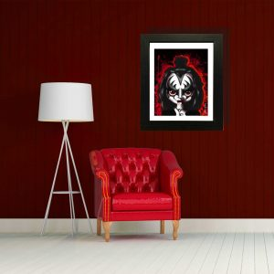 Gene Simmons from KISS Special Edition print by de Shan