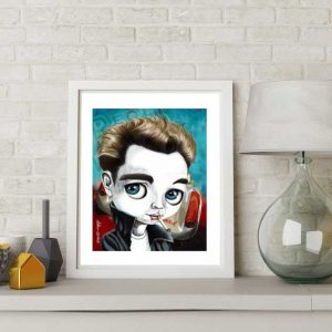 James Dean special edition art print by de Shan