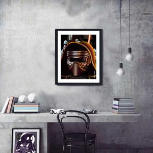 kylo ren from star wars special edition print by de Shan