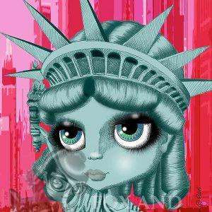 pop surrealism prints lady liberty