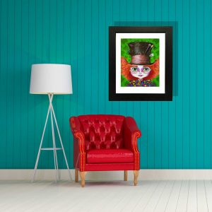 Mad Hatter special edition art print by de Shan