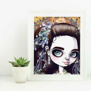 Sarah Art Print by Eumundi Artist de Shan