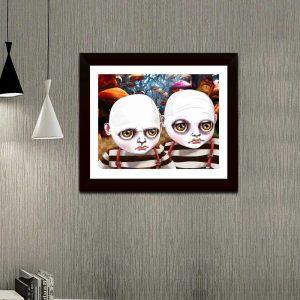 Tweedle Dee and Tweedle Dum special edition art print by de Shan