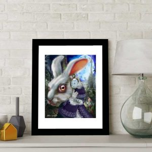 The White Rabbit special edition art print by de Shan
