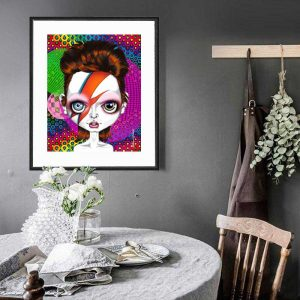 Ziggy Stardust special edition art print by de Shan