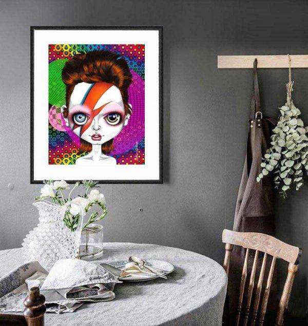 Ziggy Stardust special edition art print by de Shan