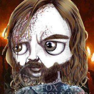pop surrealist the hound games of thrones print