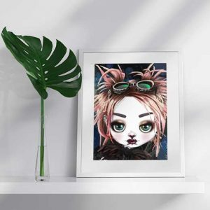pop surrealism print bad tinkerbell
