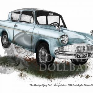 1962 Ford Anglia 105E Deluxe special edition print by de Shan