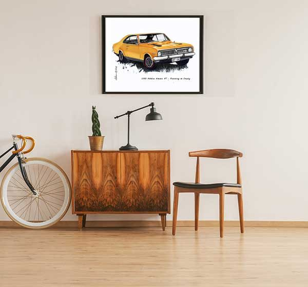 1969 HT Holden Monaro from the movie Running on Empty Special Edition Car Art Print