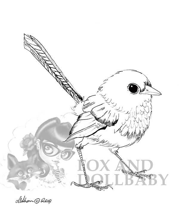 Australian Blue Wren Special Edition Bird Art Print