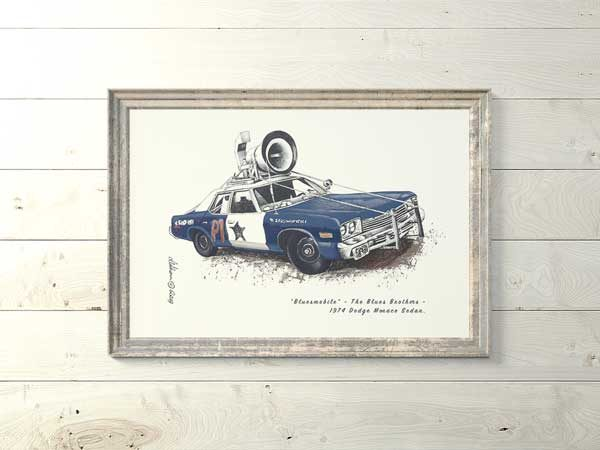 1974 Dodge Monaco Sedan Blues mobile from Blues Brothers Special Edition Art Print