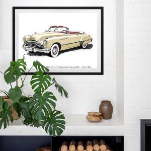 1949 Buick Roadmaster Convertible from the movie Rain Man Special Edition Art Print