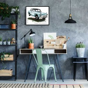 1962 FORD Anglia 105E Deluxe from Harry Potter Special Edition Art Print