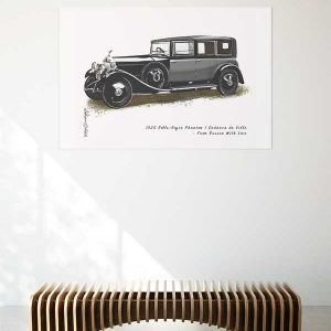 1925 Rolls Royce Phantom I Sedanca de Ville from the movie From Russian with Love Special Edition Car Art Print