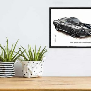 1967 Shelby Mustang GT500 Fastback 'Eleanor' from the movie Gone in 60 Seconds Car Art Print