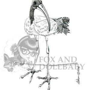 Australian Bin Chicken Special Edition Bird Art Print
