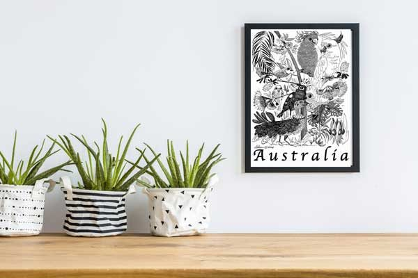 Australian Flock Special Edition Bird Art Print