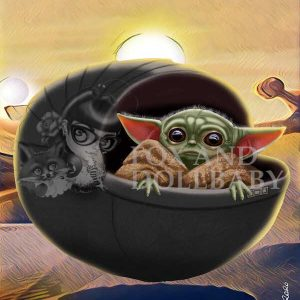 Yoda Baby Special Edition print by de Shan