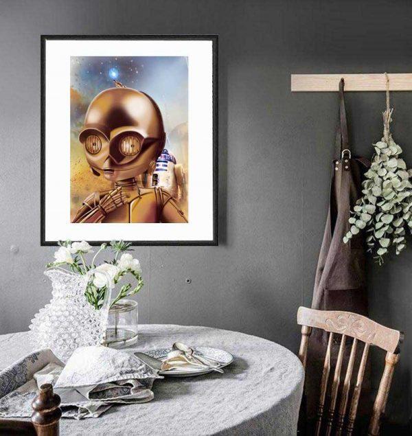 C-3PO special edition art print by de Shan