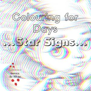 Star Signs colouring in book by artist de Shan