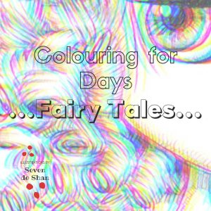 fairy tales colouring in book by artist de Shan