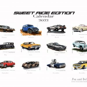 Sweet Ride Edition Car Calendar 2022 by de Shan