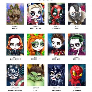 Superheroes Edition Calendar 2022 by de Shan