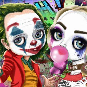 Joker Loves Harley Quinn Limited Edition Print