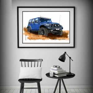 2015 Jeep Wrangler Unlimited Special Edition Print by de Shan